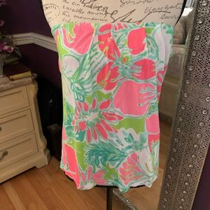 Lily Pulitzer strapless Tyra tube top